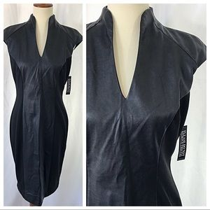 NWT- Faux Leather Stretch Dress